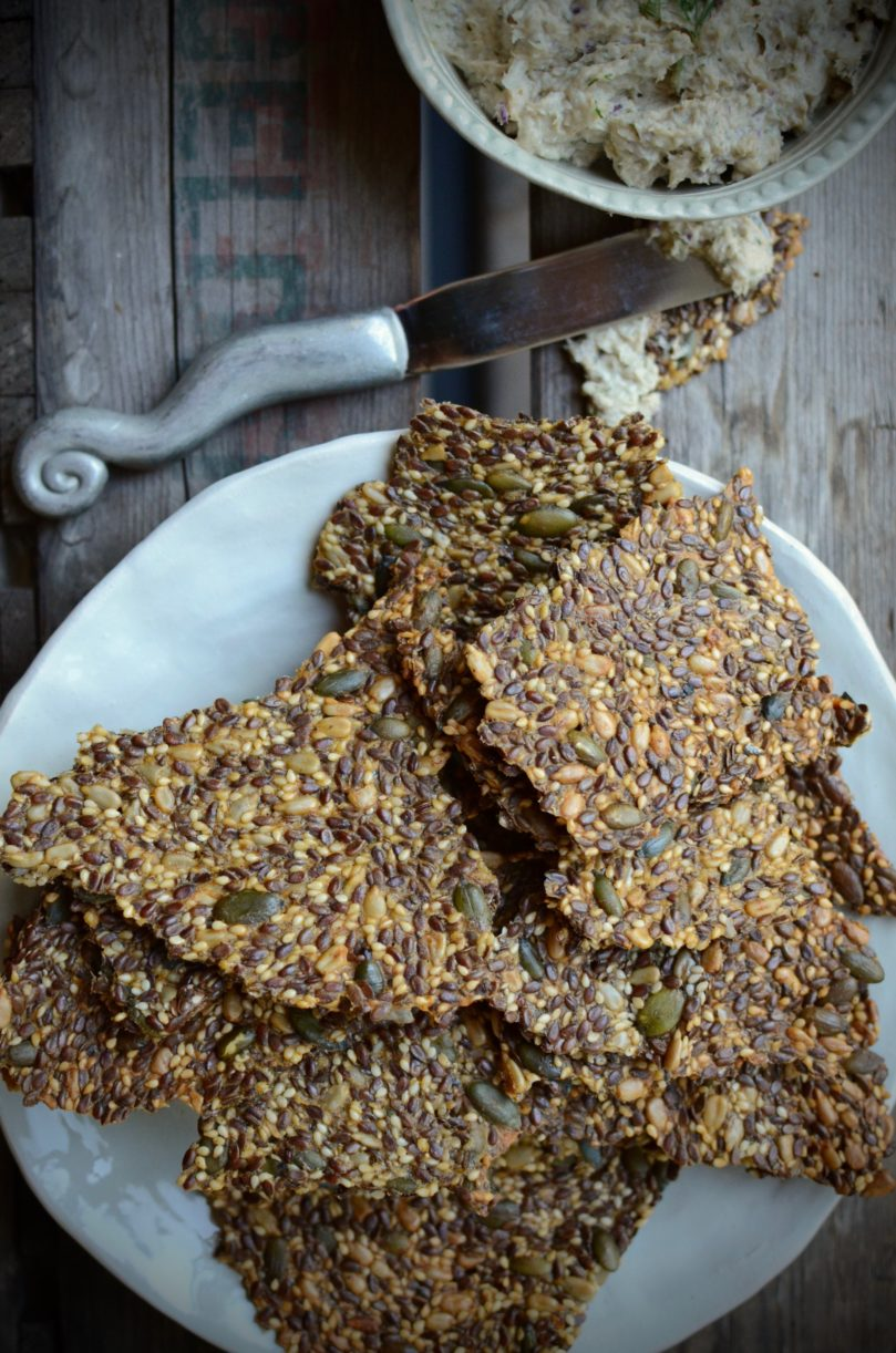 Sweet Potato and Harissa Seed Crackers