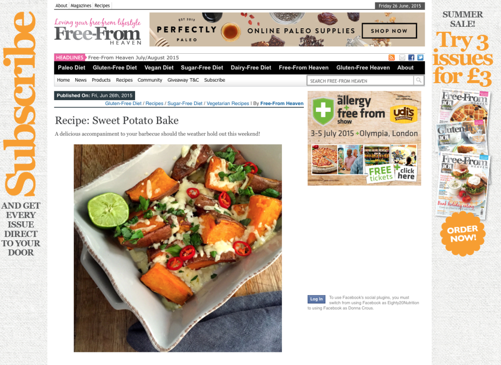 Sweet Potato on Free-From