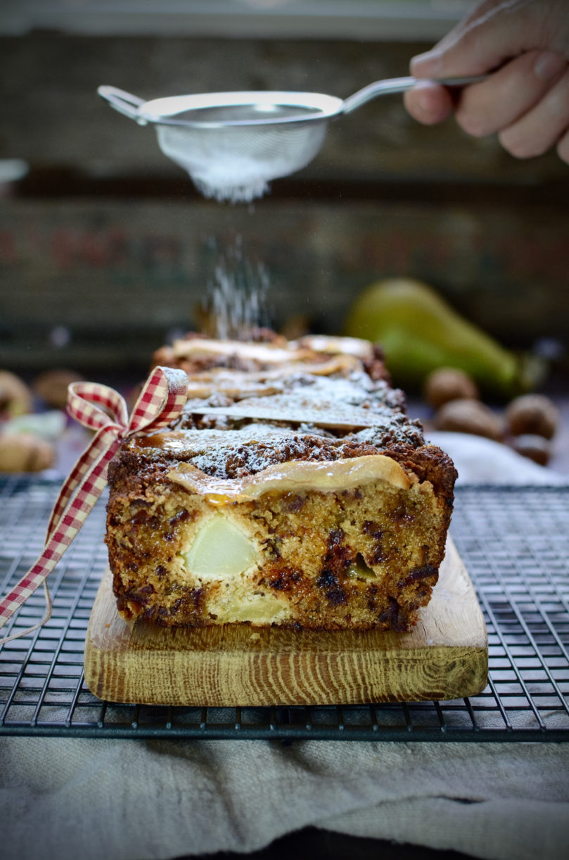 Pear and Cardamom Loaf Cake