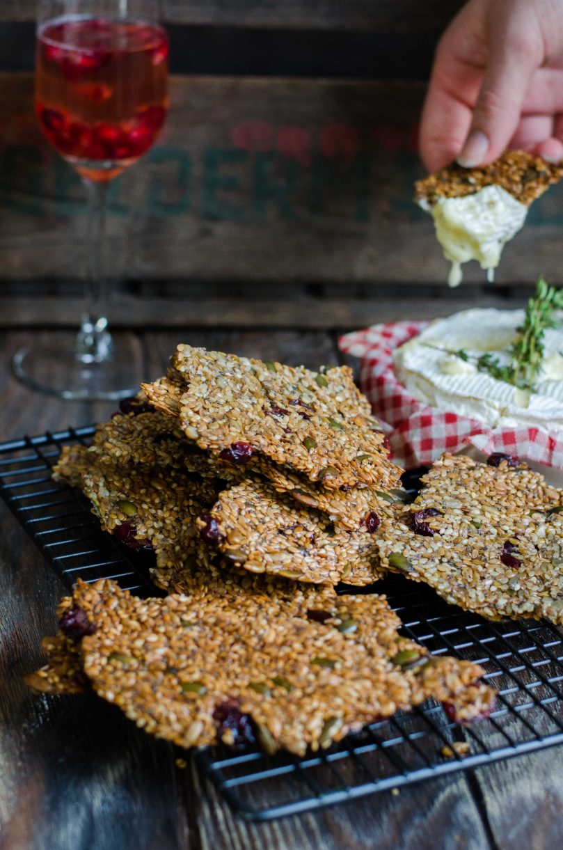 Cranberry Seed Crackers