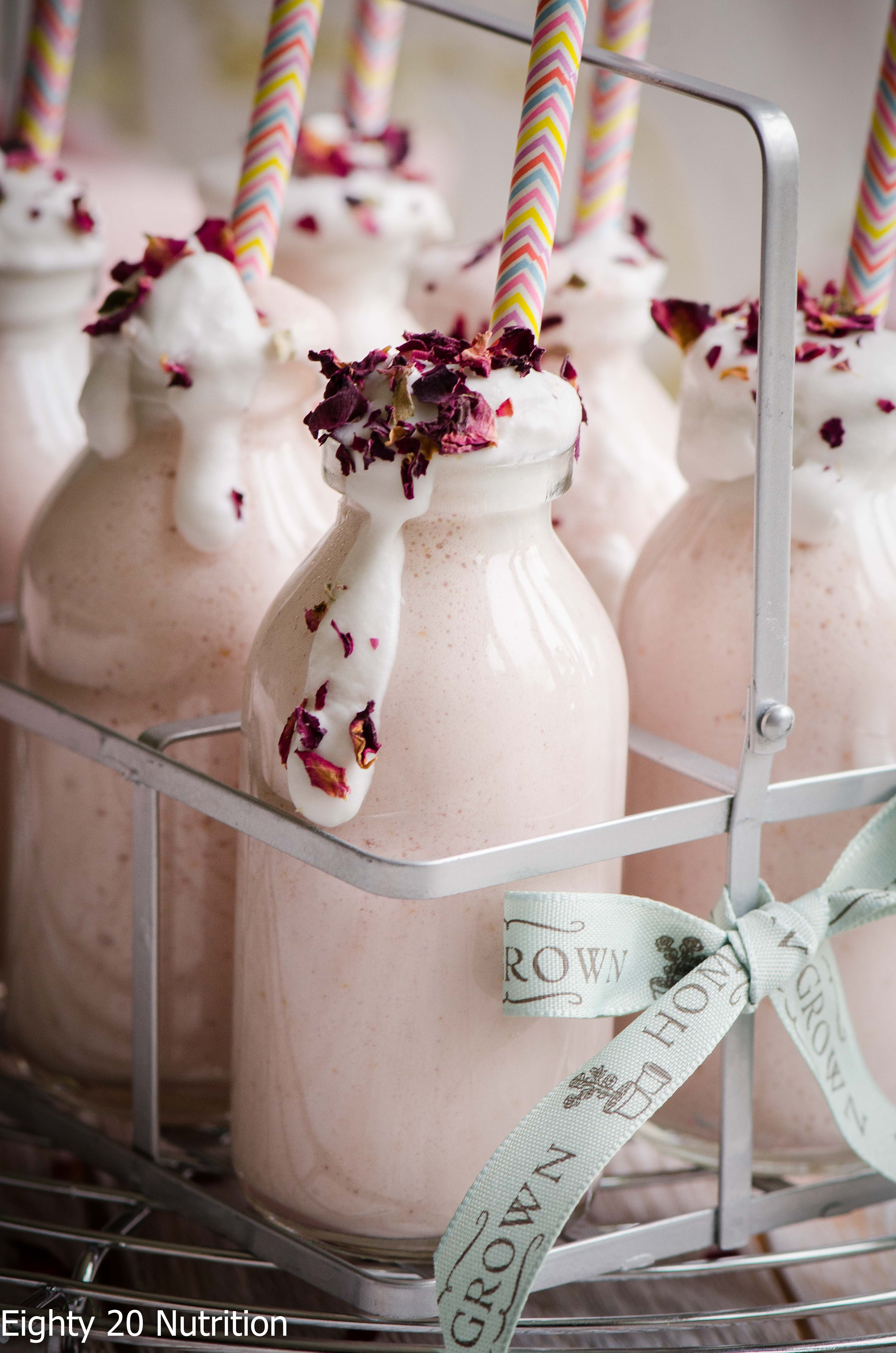 Raspberry and Rose Milkshakes