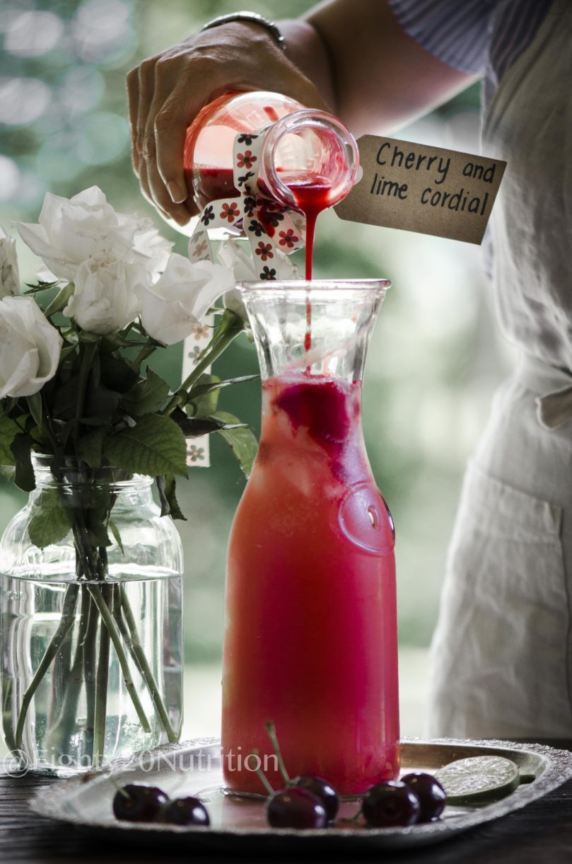 Cherry and Lime Lemonade