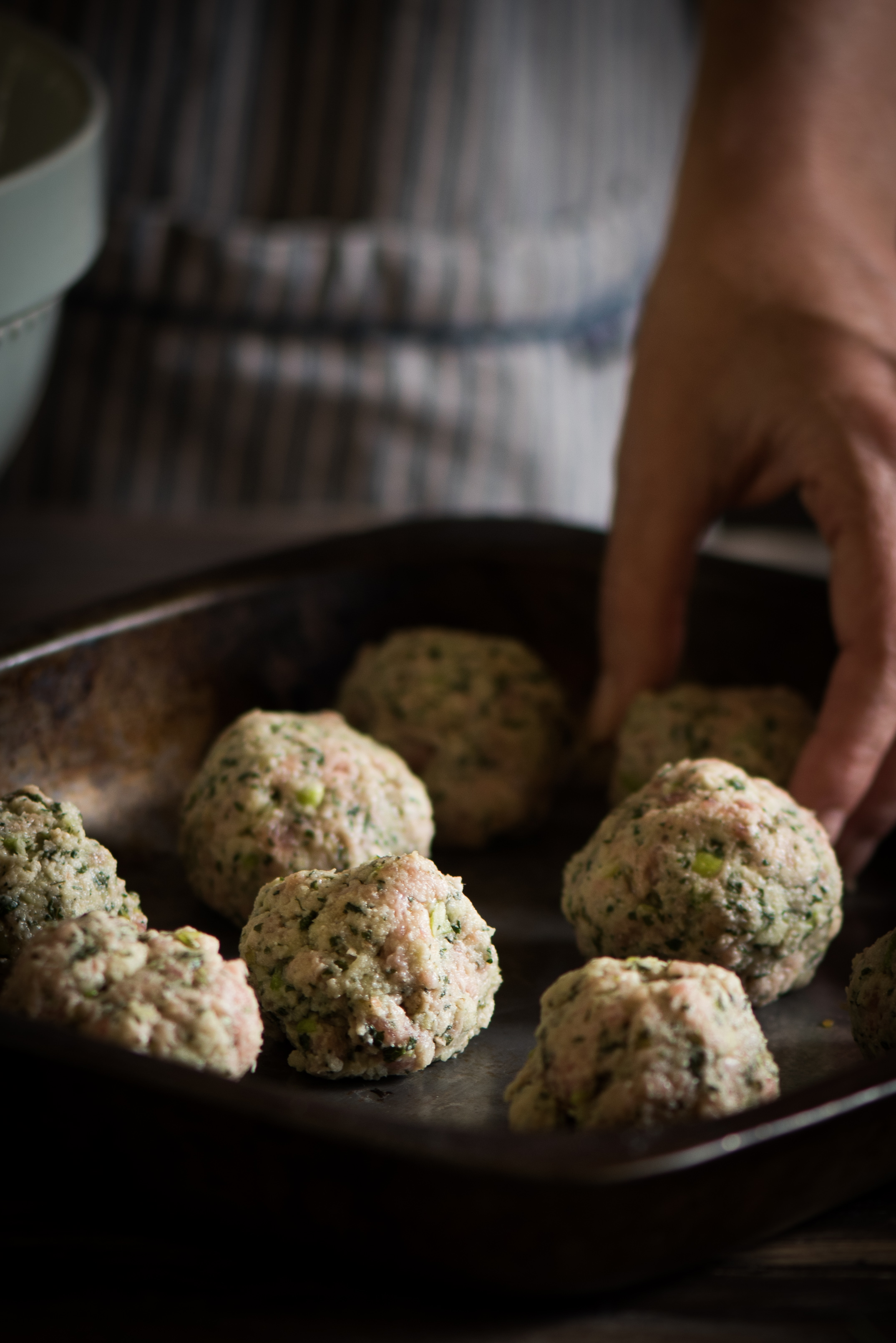 Mint and Green Apple Stuffing Balls