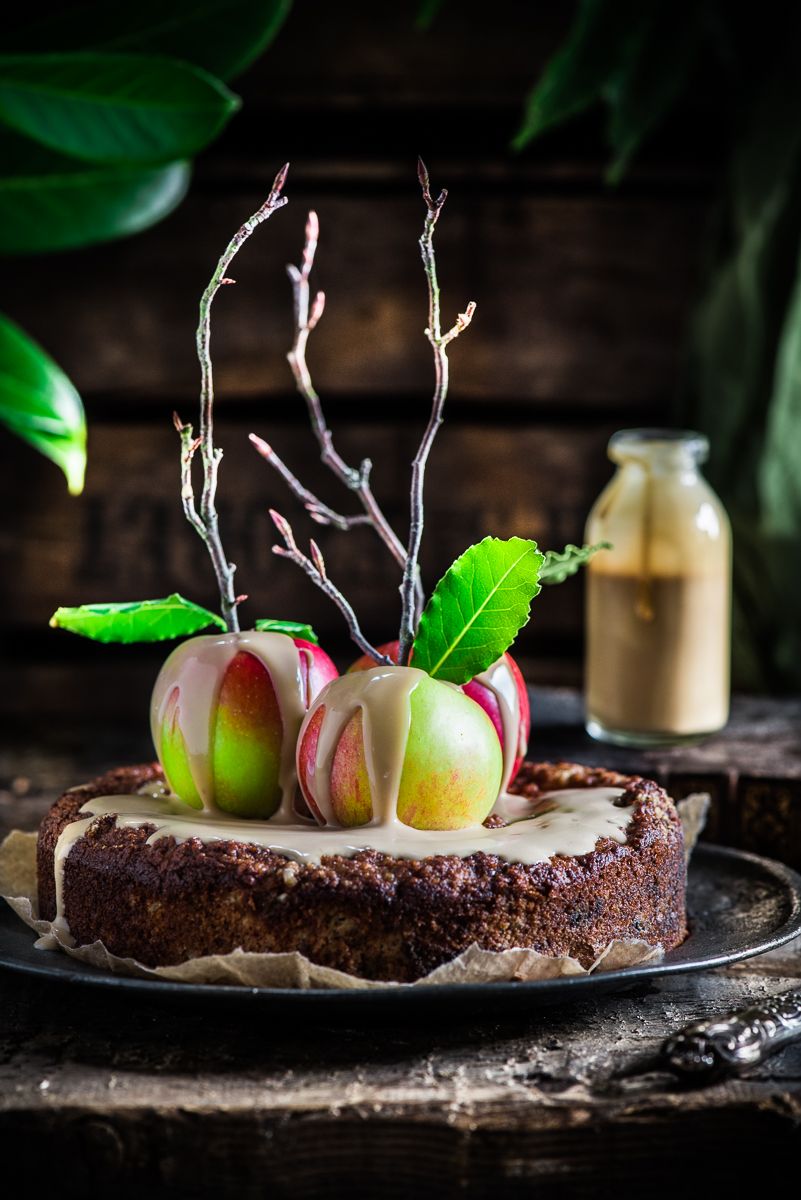 Bramley Apple Cake with Coconut Caramel